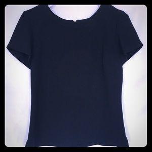Banana Republic navy blue women's blouse size 6